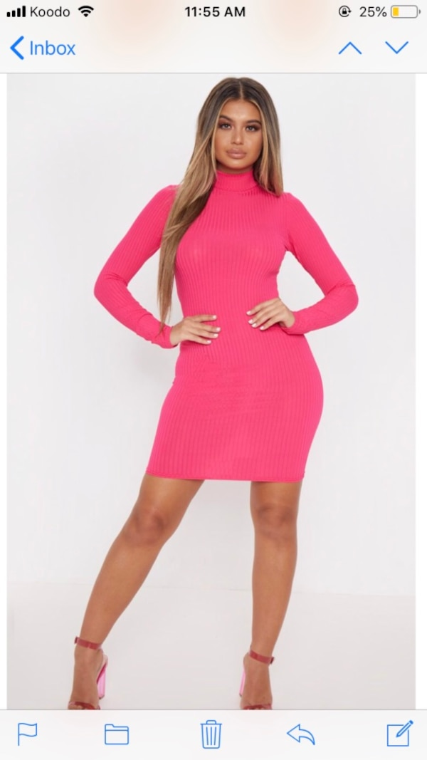 Neon pink dress - medium 4d543b4b-8b24-406d-b353-fd47063ecc53