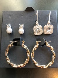 3 sets of clean beautiful earrings  3816 km