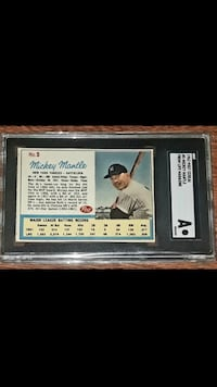 1962 MICKEY MANTLE POST CEREAL BASEBALL CARD For Sale * Lafayette, 94549