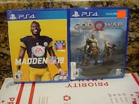 PLAYSTATION 4 GAMES GOD OF WAR MADDEN 19 $25 DOLLARS EACH Albuquerque