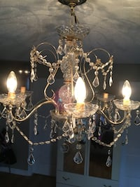 Reduce,Golden  and white crystal uplight chandelier