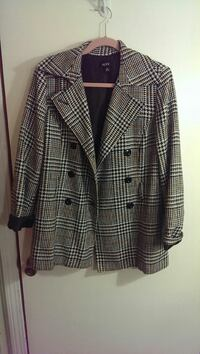 gray and black trench coat size 14 Bristol, 02809