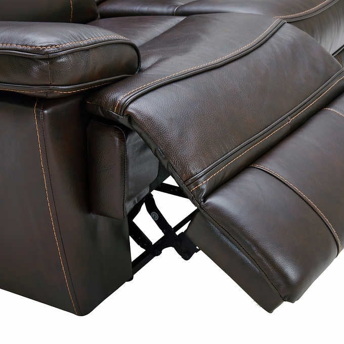 Reclining Leather Couch 1