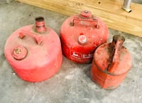 two orange and red propane tanks Lusby, 20657