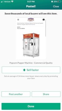 Popcorn Machine Movie Theater Commercial Concession Events
