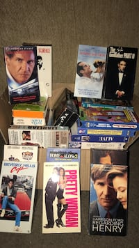 Assorted vhs movie cases collection Los Angeles, 91326