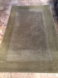 Pottery Barn Wool Area Rug 5x8 Sage Green