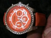 Orange Fossil watch w/ orange leather strap Vancouver