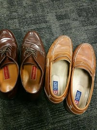two brown leather Chaps and ColeHaan loafers 382 mi
