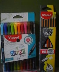 Graph' peps 0.4mm fineliners and x12 HB black peps Brampton, L6X 1G3