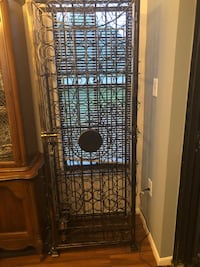 Wine jail with lock and key.