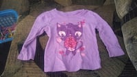 Place purple long sleeve size 18 to 24 months