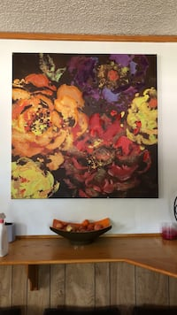 Red, yellow, and purple flower painting Antioch, 94509