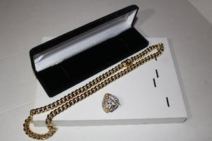10mm Cuban Miami Link Chain 14k Electroplated Gold Wrapped HEAVY