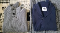gray button-up sweater Queens, 11367