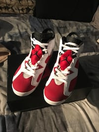 Red-and-white air jordan basketball shoes Toronto, M1L 4L2