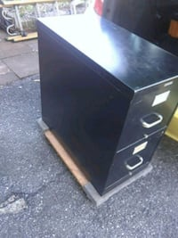 Filing cabinet mounted on Dolly