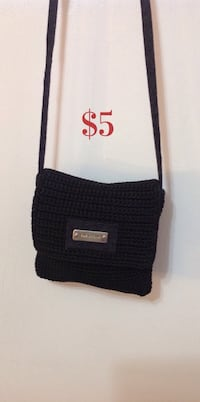 Black Knit Mini Crossover Bag Brampton, L7A