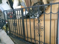 Black wrought-iron window security gate for bedroo Bakersfield, 93305