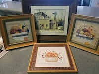 four brown wooden framed paintings Pompano Beach, 33067