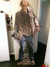 "6 foot ""WALKING DEAD"" . CARDBOARD  SIGN"