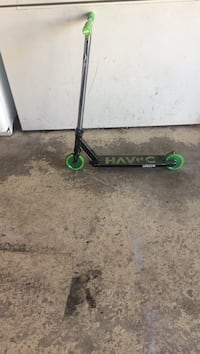 black and green kick scooter Langley, V3A 7K3