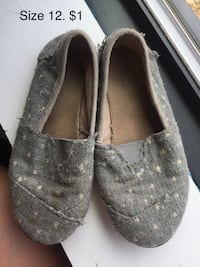 pair of gray Toms slip-on shoes Chevy Chase, 20815