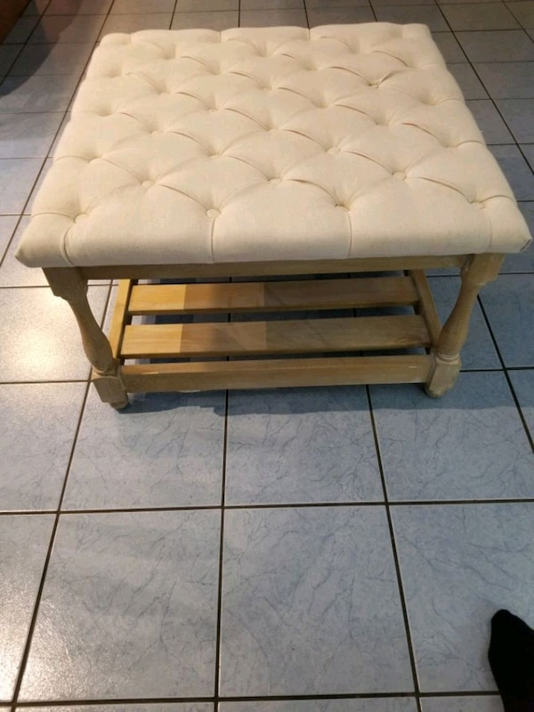 Like New! HULTS Ottoman Table 0