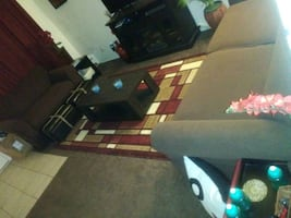 Sofa and loveseat set both has beds