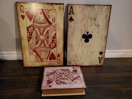 Playing Card Wall Plaques and Box