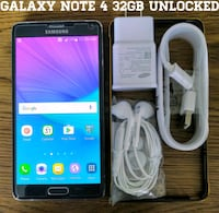 Galaxy Note 4 GSM UNLOCKED 32GB + Accessories  Arlington