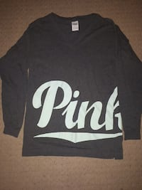 Vs pink loose fit long sleeve xs