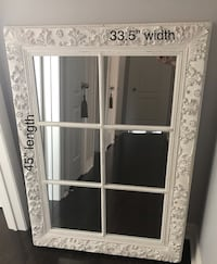 Decorative Mirror - measurements noted on photo.  Very sturdy.  Price is firm. Will respond to serious inquiries only. Bradford West Gwillimbury, L3Z 2A9