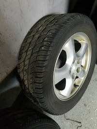 chrome 5-spoke vehicle wheel with tire Chicago, 60609