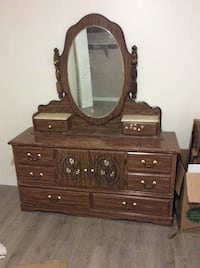 brown wooden dresser with mirror Calgary, T3K