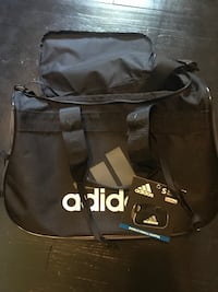 black Adidas duffel bag
