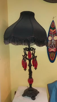 black and red boudoir lamp null