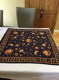 Scarf navy blue with gold  astral Gatineau, J8T 5H9