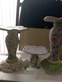 white and brown floral table lamp Capitol Heights, 20743