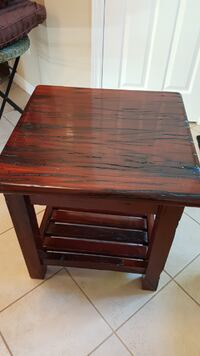 Accent solid heavy wood side table BURLINGTON