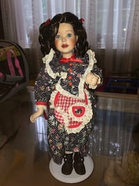 Doll in black and red floral dress Jessup, 20794