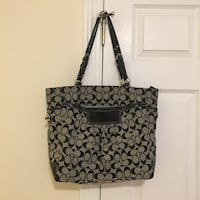 Black and gray coach tote bag Somerville, 02144