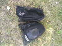 pair of black leather boots Laval, H7V 3A3