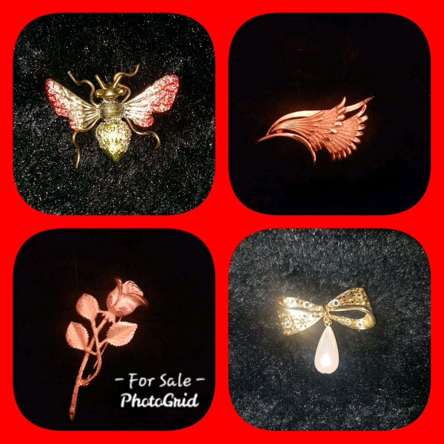 Brooches $10 Each