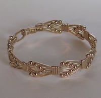 "Gorgeous Handmade 7"" 14Kt Gold Filled Wire Wrapped Bracelet  Frederick"