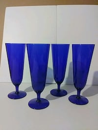 Set of 4 colbalt tall drinking glasses Odenton, 21113