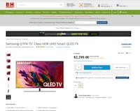 """Samsung QN75Q7FN FLAT 75"""" QLED 4K UHD TV with One  Chicago"""