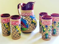 Handcrafted Mexican Terra Cotta Pitcher and Glasses Claremont, 91711