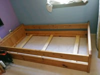 Wooden twin bed frame and desk with drawers Ormond Beach, 32174