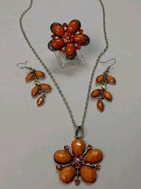 Semmer Orange Necklace Set Mount Pleasant, 48858